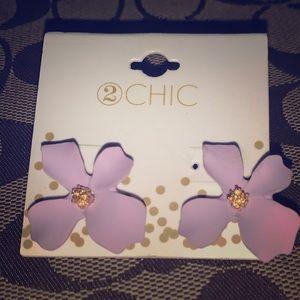 2 chic flower Earrings